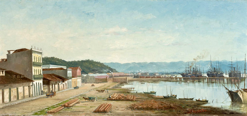 The Ramp of Porto do Bispo in Santos, by Benedito Calixto (circa 1900)