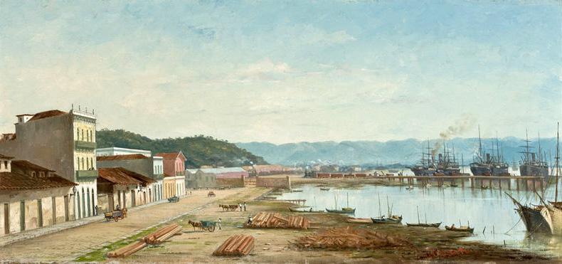 The Ramp of Porto do Bispo in Santos, by Benedito Calixto (circa 1900)