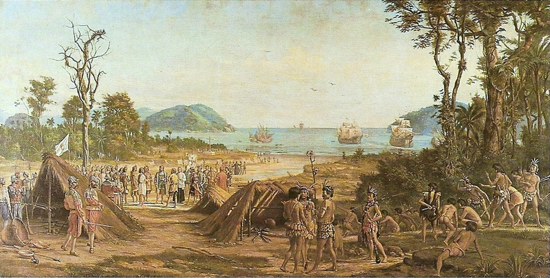 Foundation of São Vicente, by Benedito Calixto (1900)